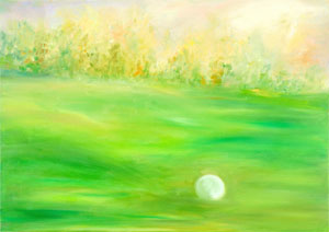 Golf. Oil on canvas