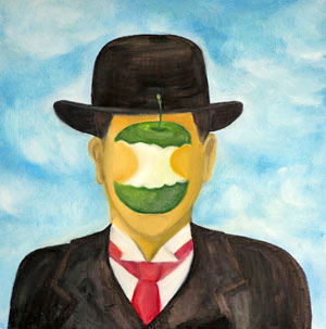 Portrait of Rene Magritte