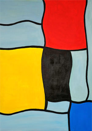 Funny Piet Mondrian after holiday