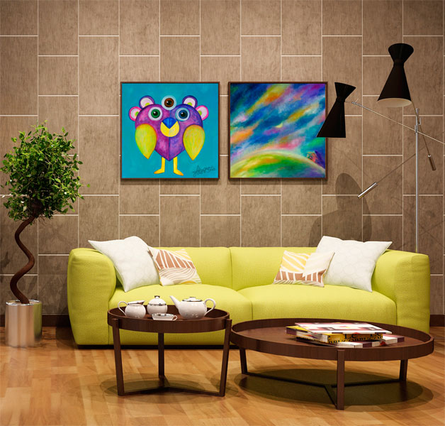 Fitting a painting of Akrolesta on your wall