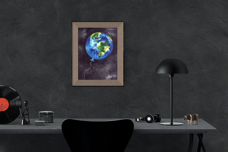 Life on Earth. The painting in the interior cabinet